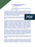 Contrato De Liberación De La Influencia  De Nuestros Padres (Maya)