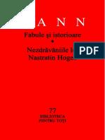Anton Pann Biblioteca pentru toti 77