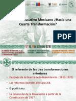 Conferencia Cuarta Transformación Educativa en México