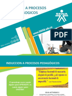 INDUCCIÓN A PROCESOS PEDAGÓGICOS