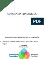 CONCIENCIA FONOLOGICA ppt.