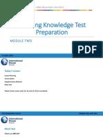 2019-3 TKT Preparation - April 13th