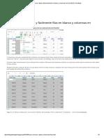 Cómo Eliminar Rápida y Fácilmente Filas en Blanco y Columnas en Excel 2013 _ Tecnoflope