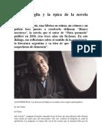 Ricardo Piglia y La Épica de La Novela Policial