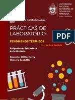 Prácticas de Laboratorio - Fenómenos Térmicos