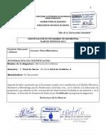 Estructura de La Materia Programa UNAN MANAGUA