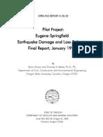 1999 Report on Eugene-Springfield Earthquake Damage & Loss