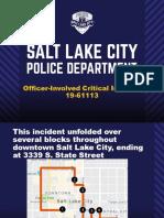 Slide presentation regarding Officer-Involved-Critical-Incident, April 8, 2019.