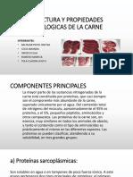 Estructura y Propiedades Tecnologicas de La Carne