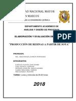 2018 - Produccion de Resinas