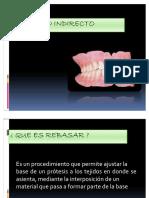 rebase indirecto prótesis total