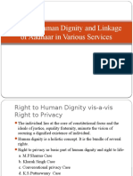 Right to Human Dignity and Linkage of Aadhaar