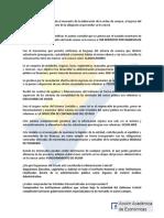 Refuerzo PED Acción Academica de Económicas