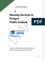 2018 Nursing Services in Oregon Public Schools