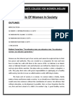 Essay on Role of Women in Society B.A Essay