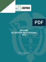 01 Informe de Gestión 2013 Rendicion de Cuentas(2)(1)