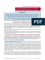 Assessment of Overseas Quals - Application Form
