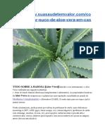 Tudo Sobre a Babosa - Aloe Vera➦Uso Interno possui diversos benefícios