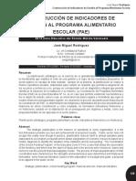 CONSTRUCCIÓN DE INDICADORES DE GESTIÓN AL PROGRAMA ALIMENTARIO ESCOLAR (PAE)