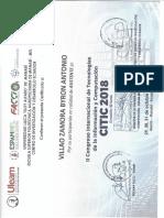 Certificado Citic2018 Villao Zamora Byron Antonio.9a