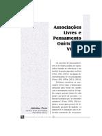 Associações Livres e Pensamento Onírico de Vigília - de Antonino Ferro
