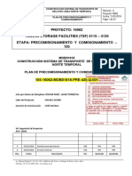 Plan de Precomisionado y Comisionado Del Sistema Relaves Linea Norte