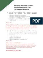 Geração Hidráulica Lista de Questões AP1