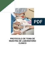 Protocolo de Toma de Muestra de Laboratorio Clinico