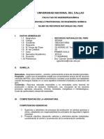 Silabo de Recursos Naturales Para 2019-A