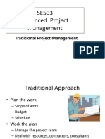 Traditional Project Management Advanced Project Management Lecture Slides