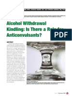 Alcohol Withdrawal Kindling