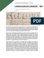 200 AÑOS DE AGRICULTURA EN EL PARAGUAY