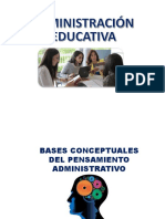 1. Bases Conceptuales Pensamiento Administrativo