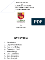 Preliminary Study of Pedestrian Movement Over Foot Over Bridges