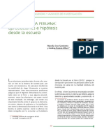 La democracia peruana:apreciaciones e hipótesis desde la escuela