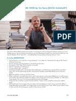 The 4 Hour Work Week Book Summary