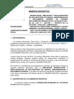 PROF. CHERO_DF Ampliacion y Regularizacion Memoria Descriptiva