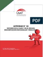 Actividad N° 02. Vectores en el Plano y en el Espacio. Descomposición Rectangular y Resultante.pdf