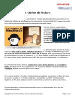 Universia Mexico No Tiene Habitos Lectura