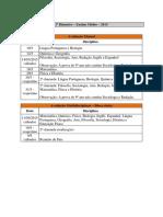 Calendario de Provas 2015 (Secretaria) -. Em