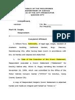 Complaint Affidavit Perjury Doc