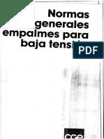 NORMAS GENERALES EMPALME PARA BAJA TENSION.pdf