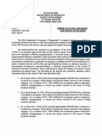 Oliver, Gregory - Cease and Desist and Notice of Hearing