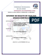 Informe de Ensayo de Análisis Granulométrico