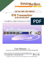 User Manual V 2.2 FM Transmitter Radio Jazz 30w 50w 100w 150w 300w Innovaction