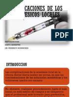 Complicaciones de La Anestesia Local Mathaeus Ruiz