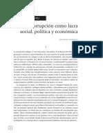 DEMOCRACIA O CORRUPCIÓN - LA CORRUPCIÓN COMO LACRA SOCIAL, POLÍTICA Y ECONÓMICA