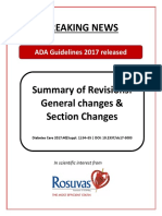 Summary and Changes in ADA Guidelines 2017