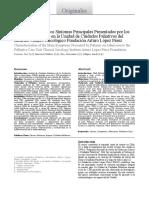Caracterización de Los Síntomas Principales Presentados Por Los Pacientes Al Ingreso en La Unidad de Cuidados Paliativos