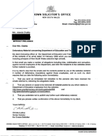 Letter from Christa Ludlow Crown Solicitor dated 17 February 2006